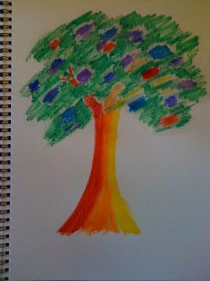 a rainbow tree!