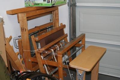 "My new loom, a 22"" Harrisville Designs folding loom"