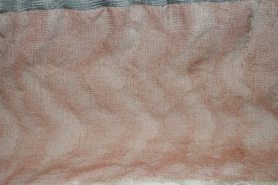 Devore sample, in cotton-wrapped polyester sewing thread