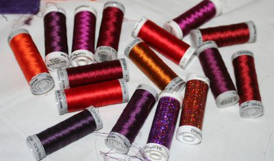 lots of rayon embroidery thread!