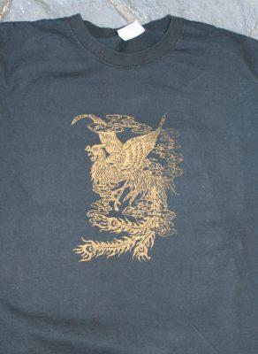 gold phoenix on black