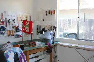 ironing board and work table