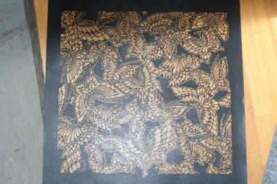 pre-cut butterfly stencil