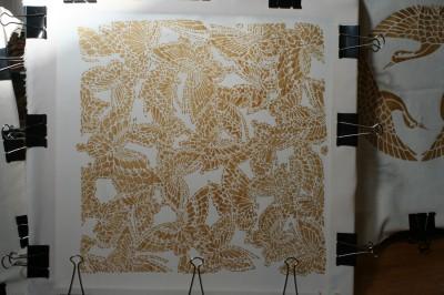 butterfly stencil paste