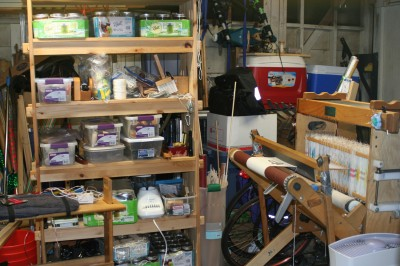 all my weaving equipment
