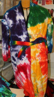 front of bathrobe