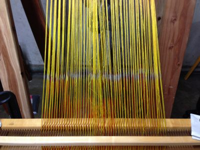 partially beamed warp, with terrible tension problems