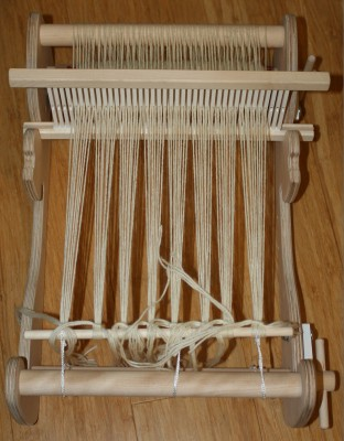 Cricket loom, warped and ready to go!
