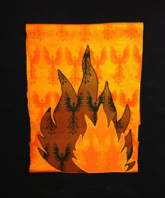 wall hanging, cropped with half phoenixes