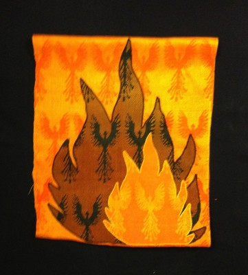 wall hanging -cropped to flames