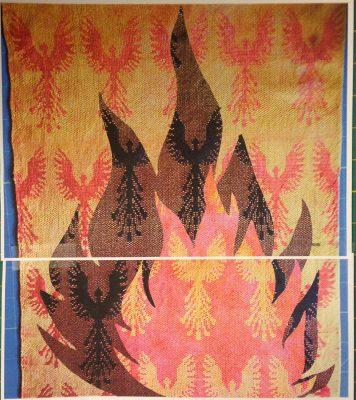 life size simulation of phoenix fabric