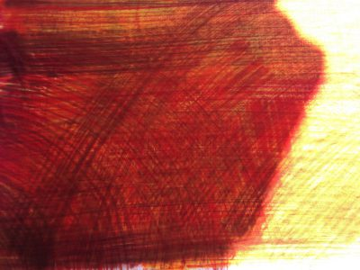 experiments with brushes and thin dye
