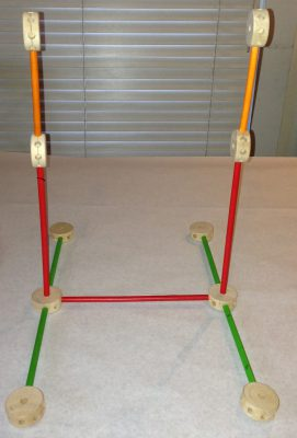 Frame for a Tinkertoy swift
