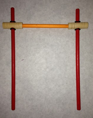 assembled part of wheel for Tinkertoy swift