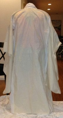 Finished muslin for Phoenix Rising, back view, with its arms down