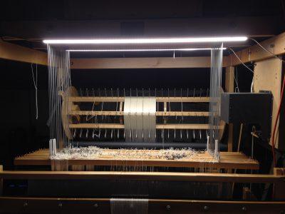 loom lights - lit up in a dark room