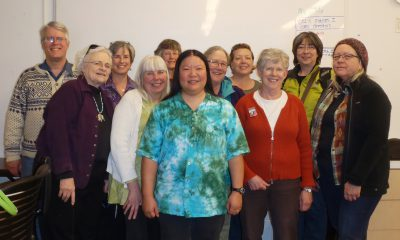 Photo of me with workshop attendees