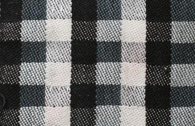 black, gray, and white, regular striping