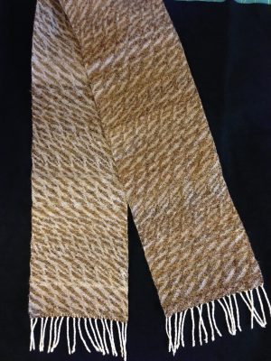 finished tabby -striped scarf