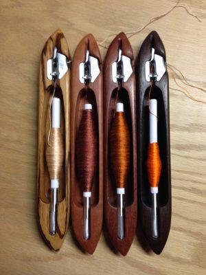 four shades of orange weft