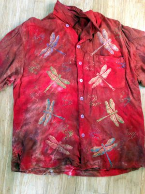 improved tie-dye with dragonflies