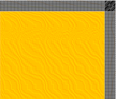shadow weave experiment - yellow and orange
