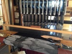 AVL Jacq3G jacquard loom, front view