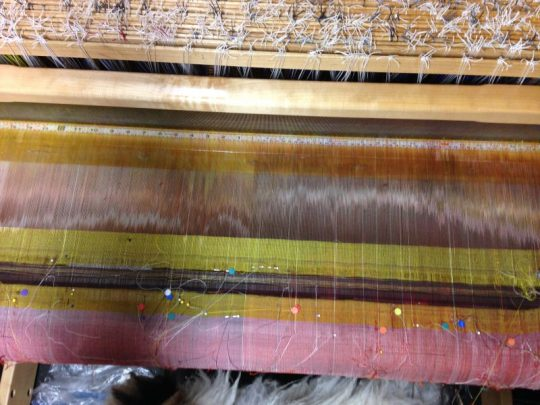 shadow weave warp, sized and ready for weaving