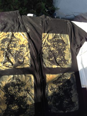 dragons on a black jacket