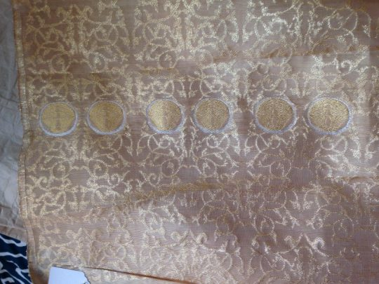 cloth woven with 24 karat gold