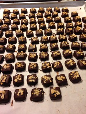 ginger chile lime peanut caramels
