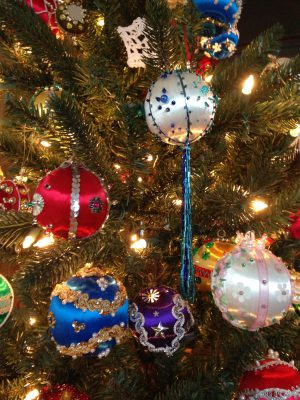 some ornaments on Mom's tree