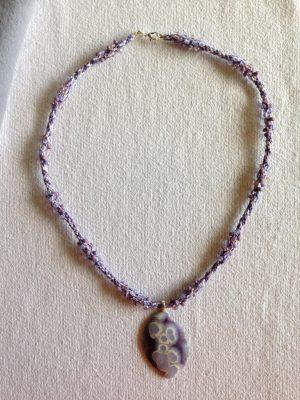 kumhimo beaded braid with matching stone