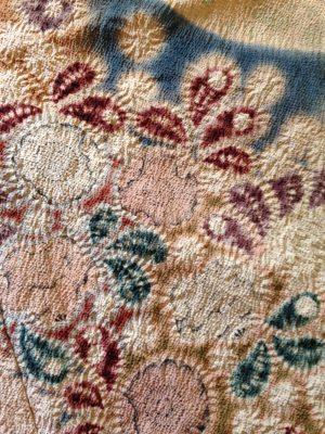 closeup of tsujigahana kimono