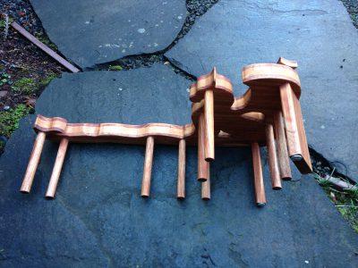 dragon inkle loom, top view
