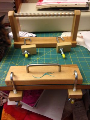 card weaving loom view 2