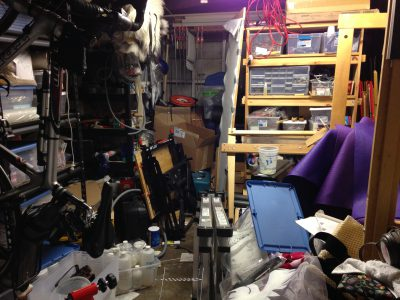The actual garage