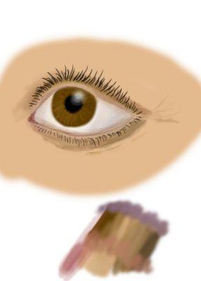 digital painting of an eye