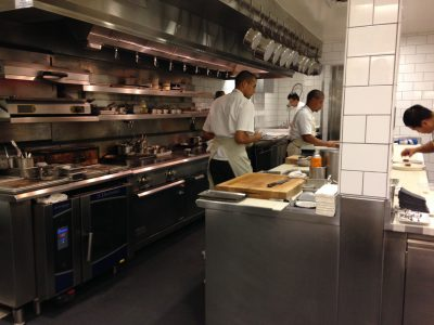the kitchen at Meadowood