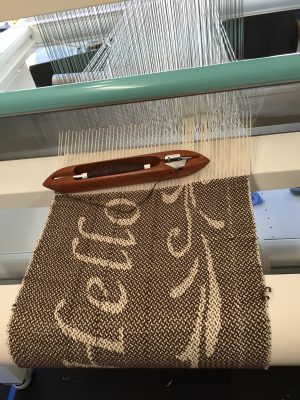 Weaving on the TC-2 jacquard loom