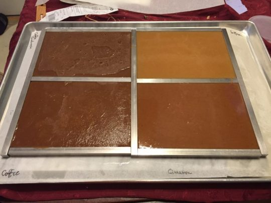 four flavors of caramel
