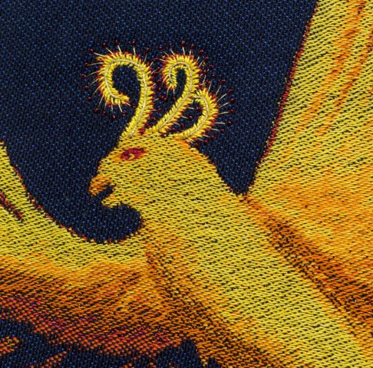 "Handwoven phoenix #2 - ""Goodbye, Ma #2"" - Detail shot"