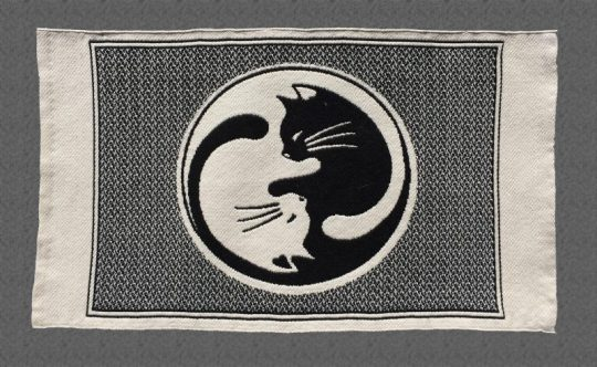 "Cat placemat - ""The Tao of Cats"" - light side"