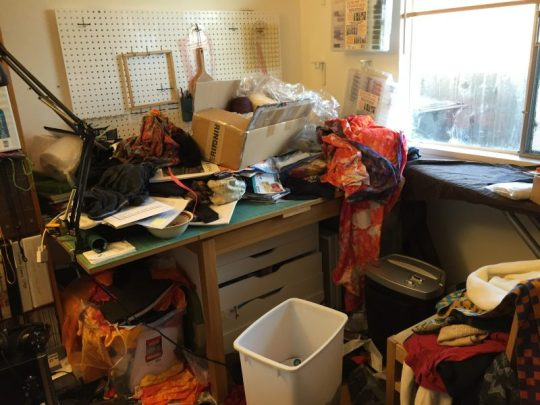 """Before"" photo of studio"