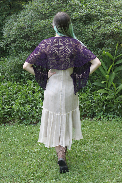 """Midnight Bloom,"" back view"
