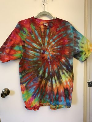 ice dyed spiral T-shirt