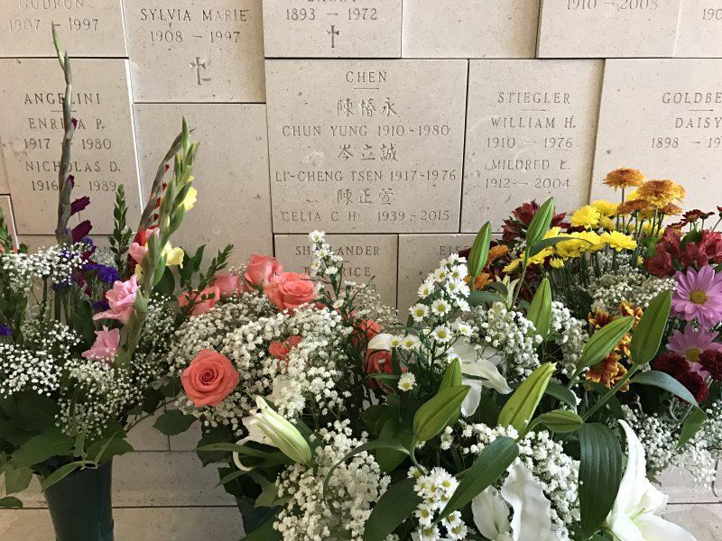 Cemetery niche for Celia C.H. Chen
