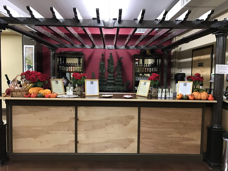 Wine bar at the Far Eastern Shore Winery