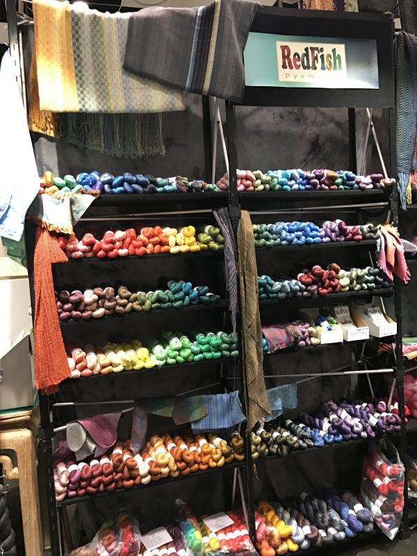 Redfish Dyeworks booth at Stitches West