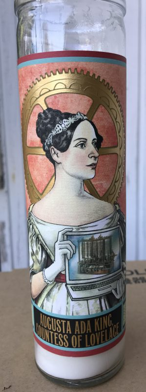 Votive candle featuring Ada Lovelace